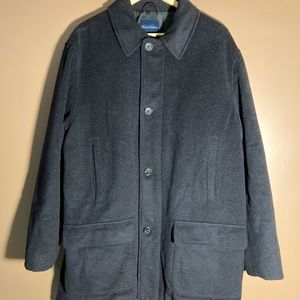 Brooks Brothers wool cashmere blend grey coat